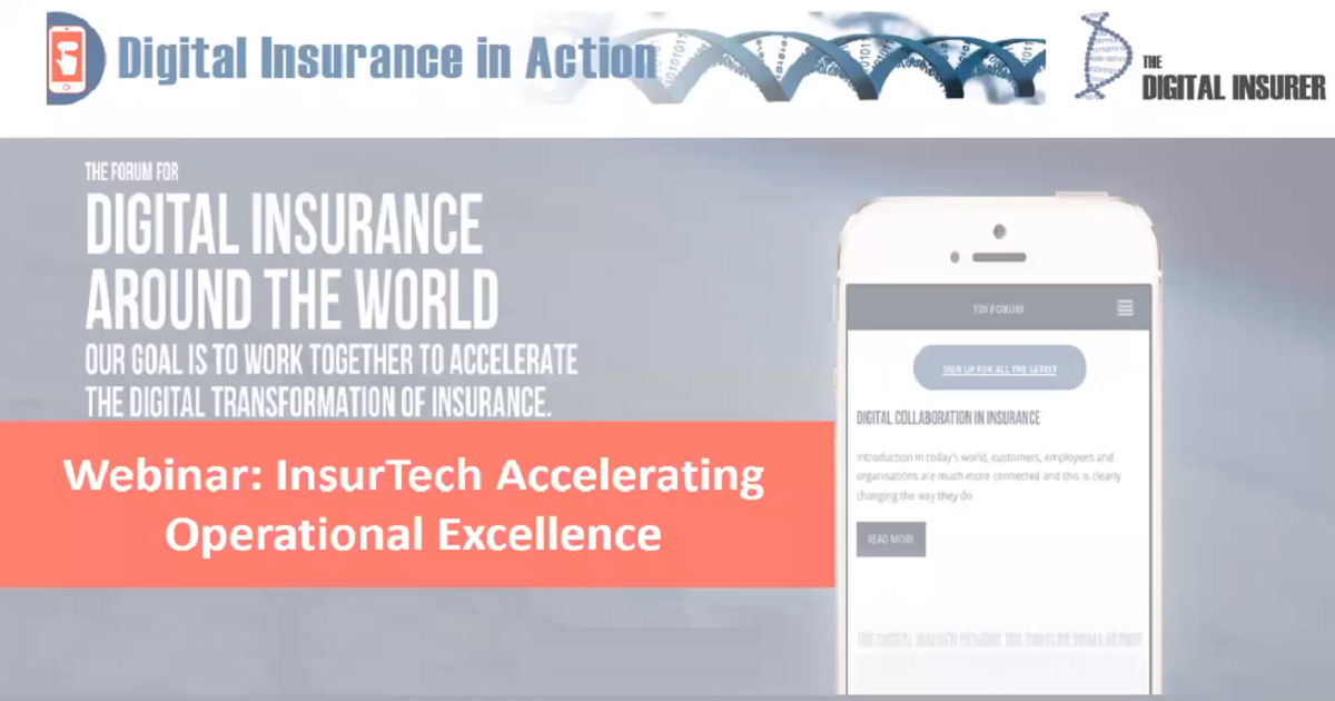 InsurTech Accelerating Operational Excellence