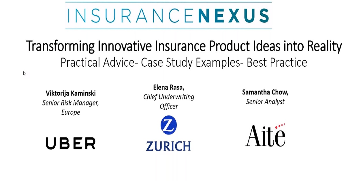 Webinar: Transforming Innovative Insurance Product Ideas into Reality