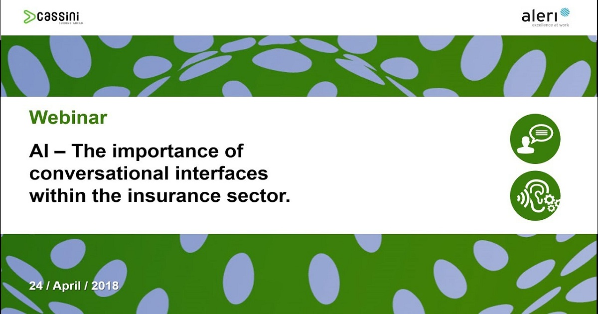 Webinar AI The importance of conversational interfaces within the insurance sector