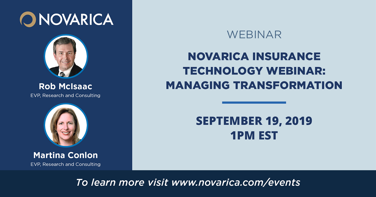 Novarica Insurance Technology Webinar: Managing Transformation