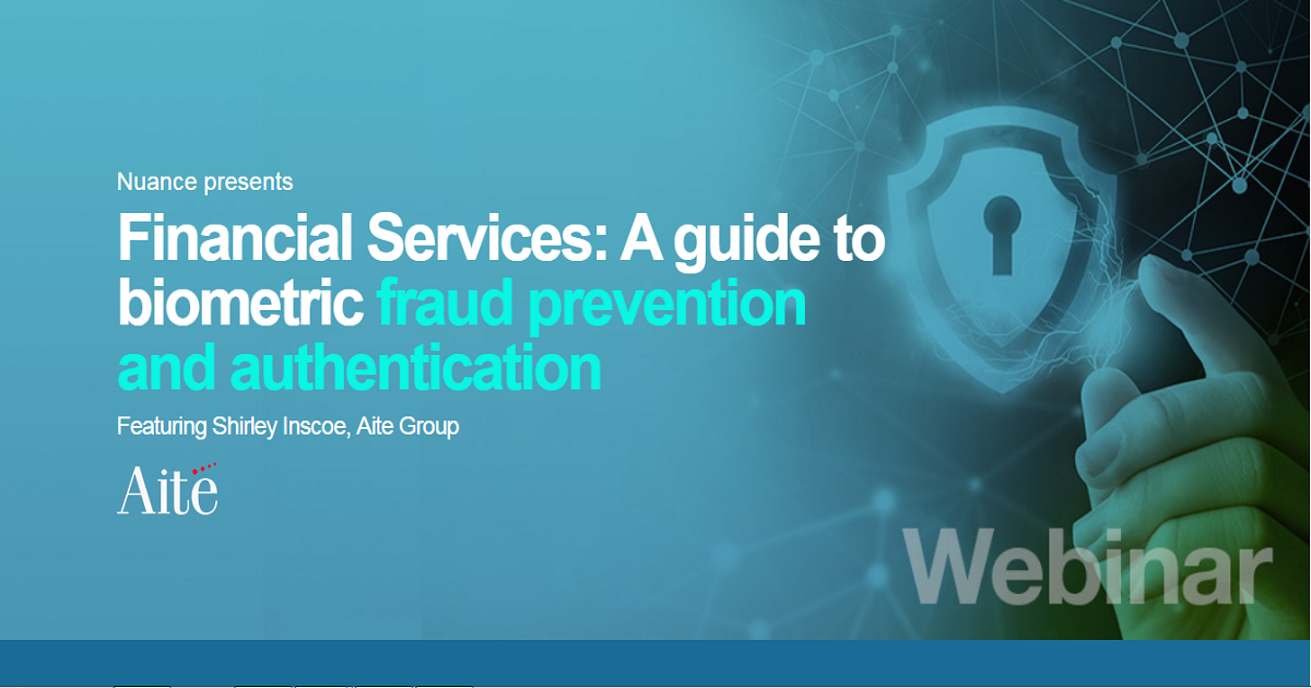 Financial Services: A guide to biometric fraud prevention and authentication
