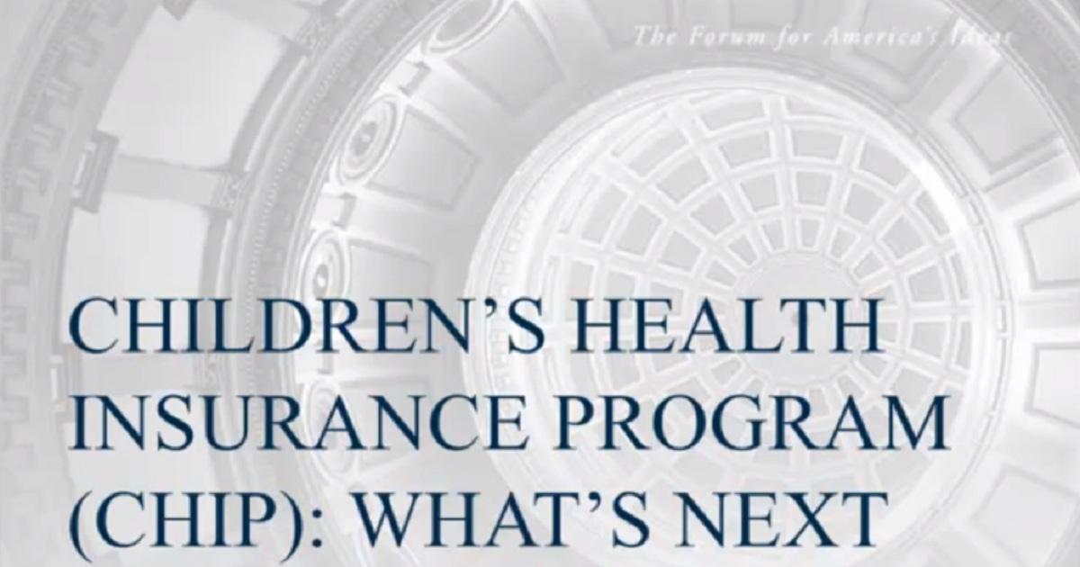 The Children's Health Insurance Program (CHIP): What's Next?
