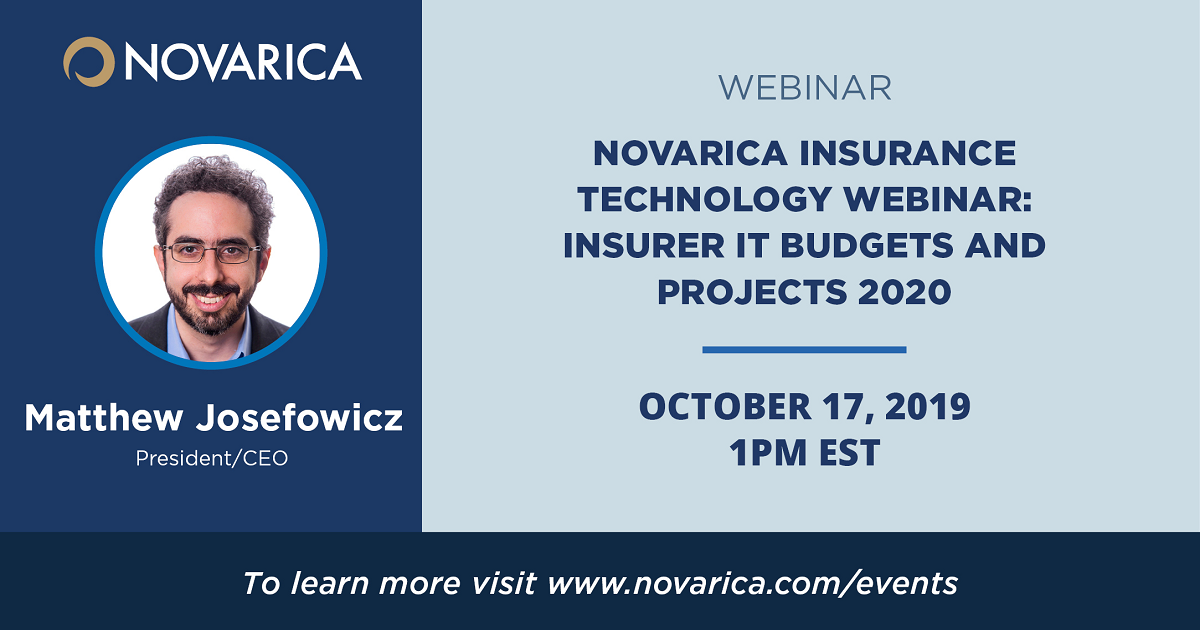 Novarica Insurance Technology Webinar: Insurer IT Budgets and Projects 2020