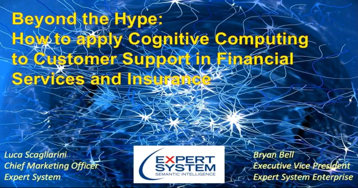 How to apply Cognitive Computing to Customer Support in Financial Services and Insurance