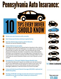10 PA AUTO INSURANCE TIPS
