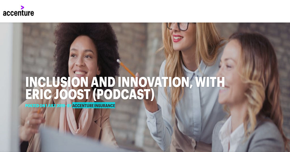 INCLUSION AND INNOVATION, WITH ERIC JOOST (PODCAST)